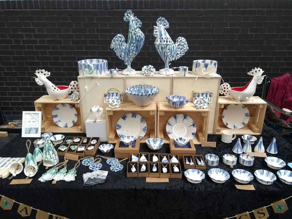 Image of Andrew R Trimby Ceramics craft fair stall